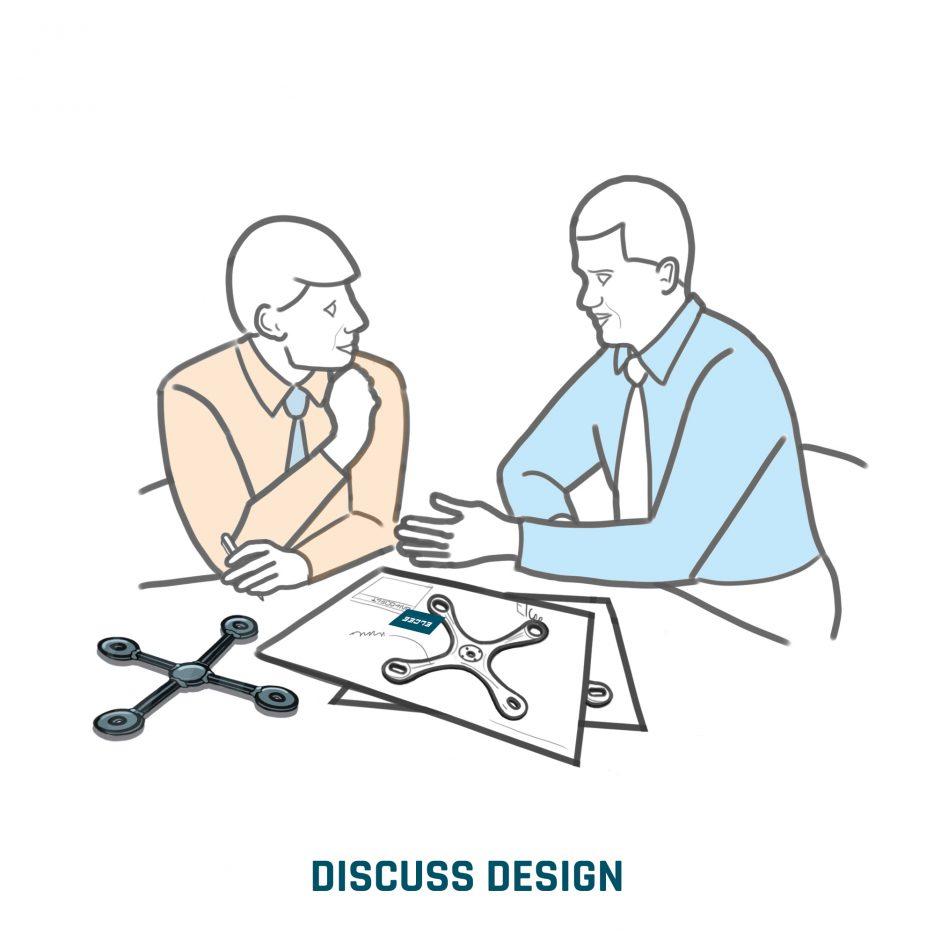 Discuter de la conception avec notre client pour créer le composant optimal