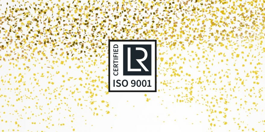 ISO certificate 9001-2015