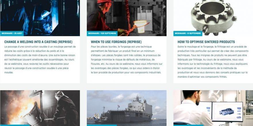 Photos et description des nouveaux webinaires de l'ELCEE