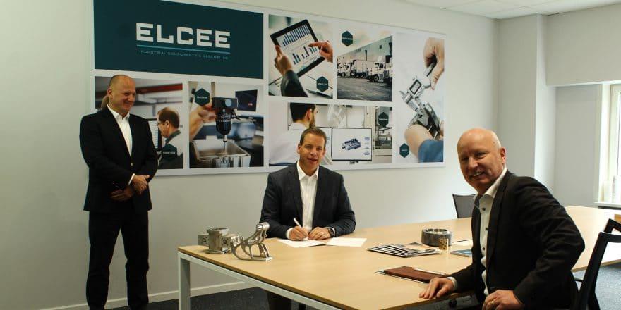 De gauche à droite sur l'image d'en-tête : Peter Fluitsma CEO du groupe ELCEE, Marco Barendse Country Director ELCEE NL et Marcel Muijs CCO du groupe ELCEE.